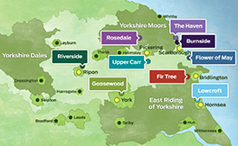 Choice of caravan parks in Yorkshire