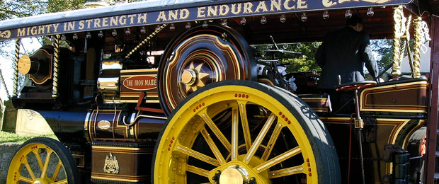Vintage Steam Traction Engine