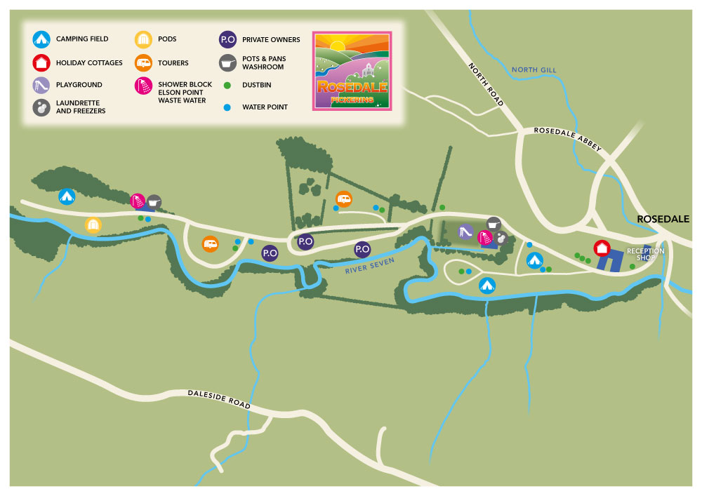 Rosedale Holiday Park Map