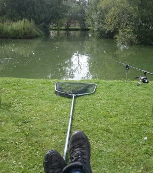 Relaxing with a bit of fishing.